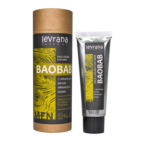 Мужской крем для лица LEVRANA «Баобаб», 30 мл