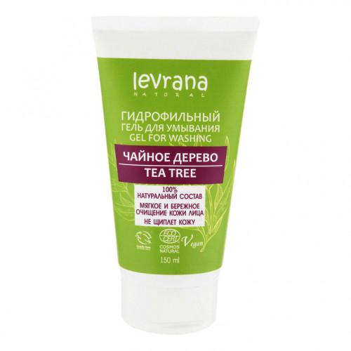 Гель для умывания LEVRANA «Чайное дерево», гидрофильный, 150 мл