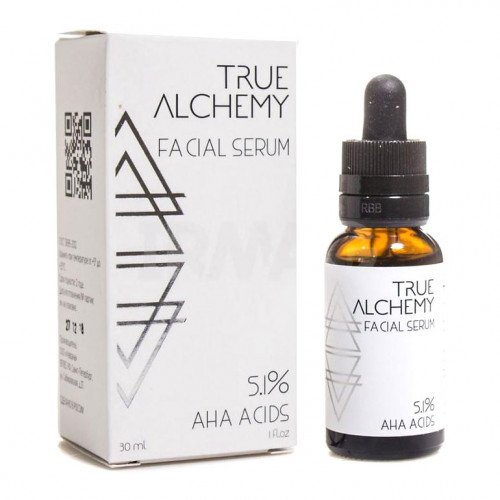 Сыворотка для лица AHA Acids 5,1% True Alchemy, 30 мл