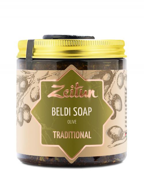 Деревенское мыло Бельди №1 традиционное с оливой и эвкалиптом 250 мл
