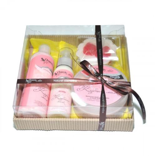 Подарочный набор для тела и душа CHOCOLATTE №4 «Клубника милк»