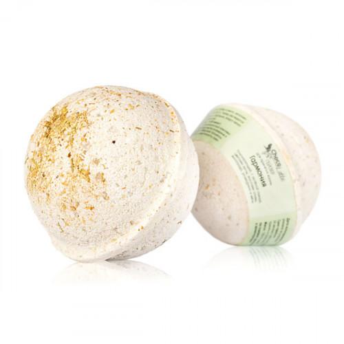 Гейзер (бурлящий шарик) для ванн CHOCOLATTE «Гармония» тонизирующий с морской солью, глиной, маслами