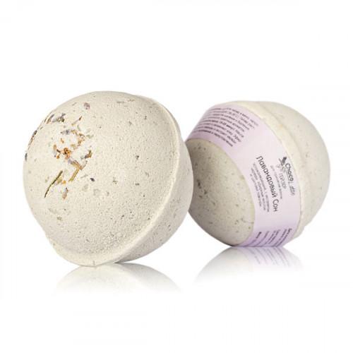 Гейзер (бурлящий шарик) для ванн CHOCOLATTE «Лавандовый сон» успокаивающий с морской солью и лавандо
