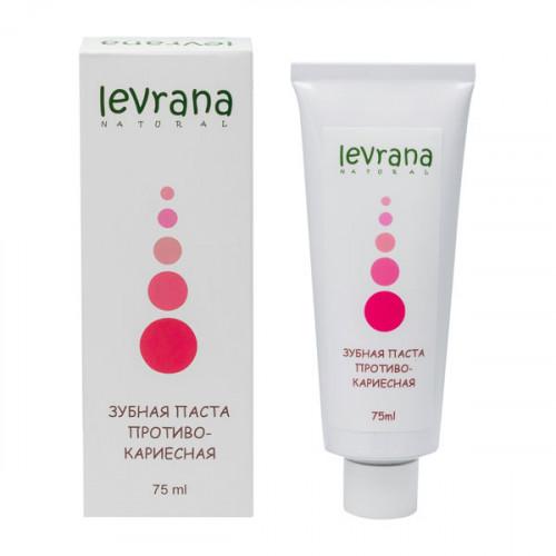 Зубная паста LEVRANA «Противокариесная», укрепляющая зубную эмаль, 75 мл