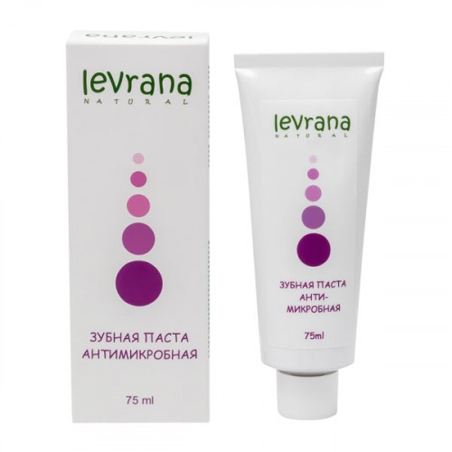 Зубная паста LEVRANA «Антимикробная» с лавандой и магнолией, 75 мл