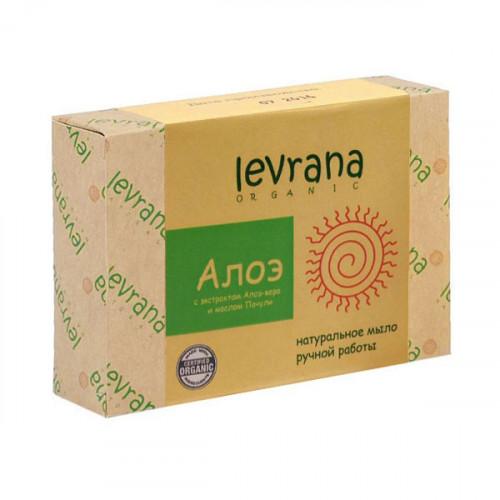 Натуральное мыло ручной работы LEVRANA «Алоэ», 100 г