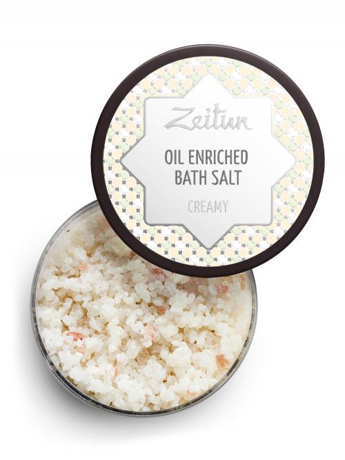 Сливочная ароматическая соль для ванн с маслом миндаля и козьим молоком 250 мл