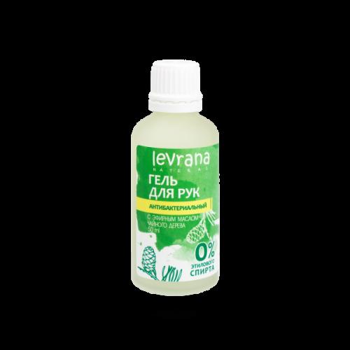 Антибактериальный гель для рук LEVRANA с эфирным маслом чайного дерева 50 мл