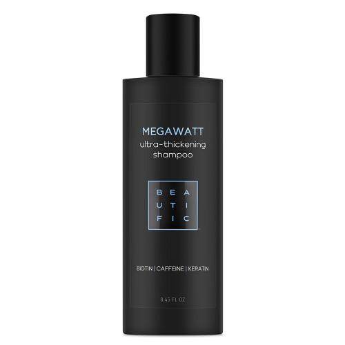 MEGAWATT шампунь для ультра-объема и густоты волос - с биотином, кофеином и кератином
