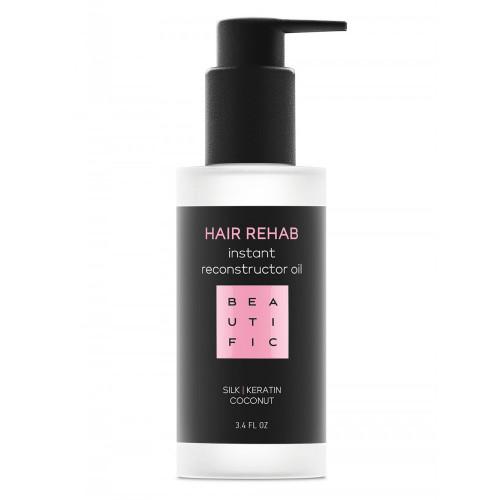 HAIR REHAB супер-восстанавливающее масло-реконструктор для поврежденных волос с кератином и шелком