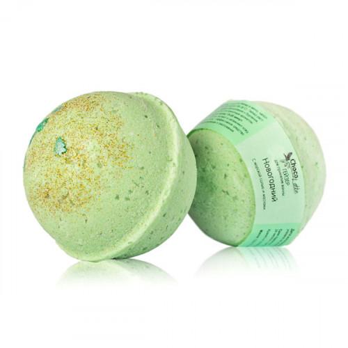Гейзер (бурлящий шарик) для ванн CHOCOLATTE «НОВОГОДНИЙ» с морской солью и маслами, 120 г