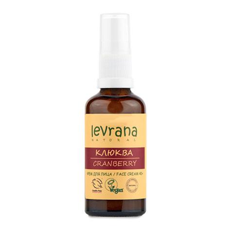 Крем для лица LEVRANA «Клюква» (антивозрастной 40+), 50 мл