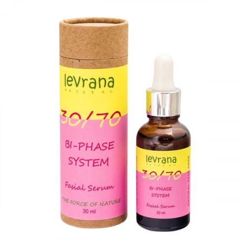 Двухфазная сыворотка для лица LEVRANA «30/70» с маслом дамасской розы, 30 мл