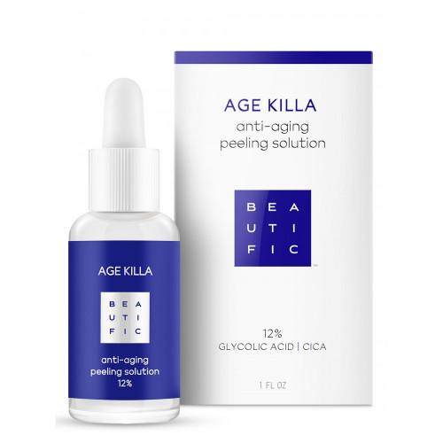 AGE KILLA Омолаживающий пилинг 12% с гликолевой кислотой и Центеллой Азиатской
