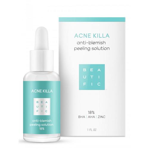 ACNE KILLA Пилинг для лица для лечения всех стадий акне 18% с салициловой кислотой и цинком.