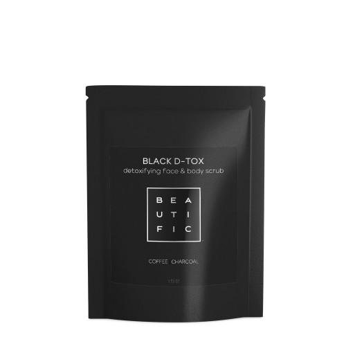 BLACK D-TOX сухой угольно-кофейный скраб для глубокого очищения лица и тела