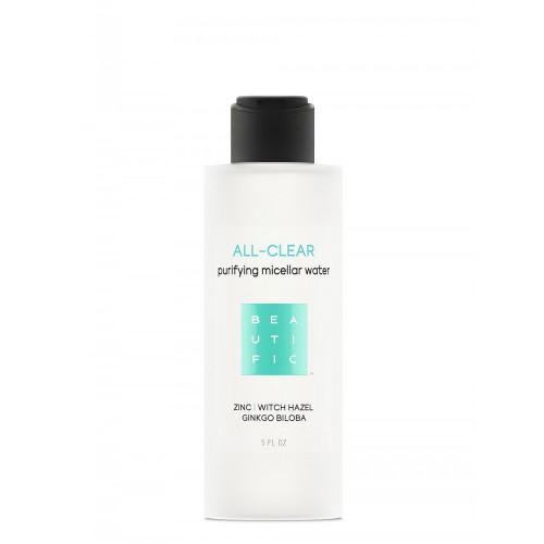 ALL-CLEAR мицеллярная вода для жирной и проблемной кожи с цинком, гингко билоба и гаммамелисом
