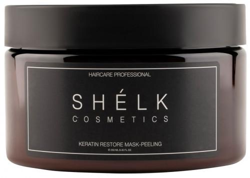 Кератиновая маска-пилинг для волос восстанавливающая SHELK