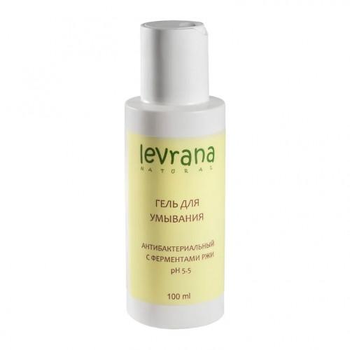 Гель для умывания LEVRANA  «Антибактериальный» с ферментами ржи mini, 100 мл