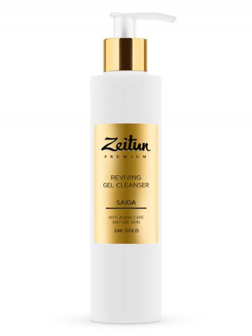 Возрождающий гель для умывания SAIDA для зрелой кожи с 24K золотом 200 мл